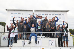 Kiern Jewiss and his Double R team celebrate winning the F4 British Championship