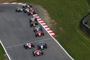 F4 British Championship, les F4 Mygale en piste