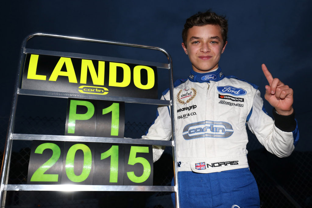 Lando Norris British F4 champion with a Mygale Car